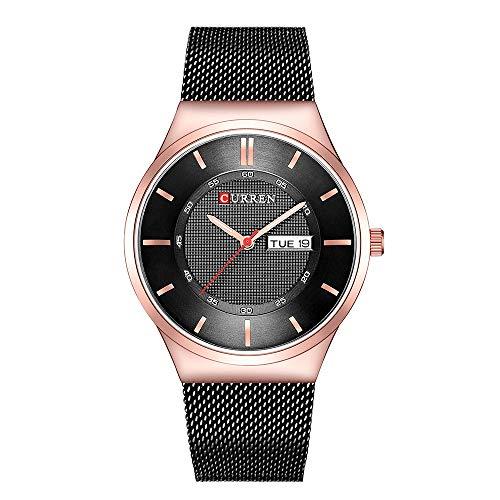 CURREN Herrenuhr Quarz Markenuhr Armbanduhr Kalender Zeitanzeige Edelstahl Uhrr