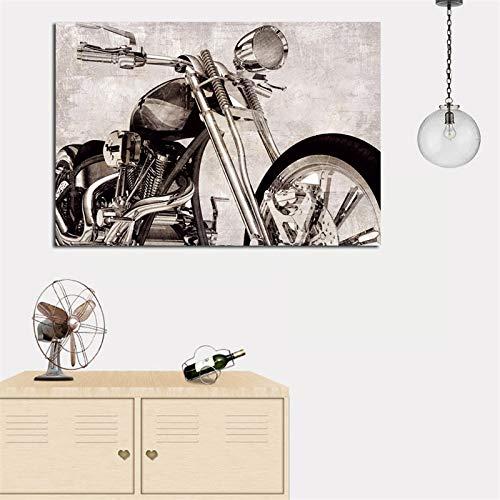 QWESFX Digitaldruck Stillleben Stil Wandmalerei auf Leinwand Moderne Motorrad Pop Art Poster an der Wand für Kinderzimmer Dekor (Druck ohne Rahmen) E 60x120CM