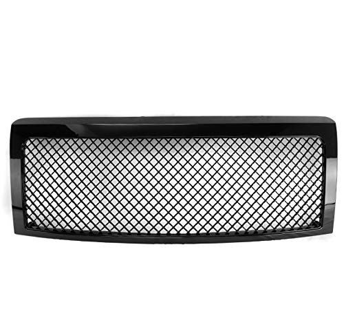 ZMAUTOPARTS For Ford Fusion Honeycomb Mesh Style Front Upper Hood Grille Gloss Black