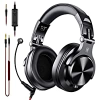 OneOdio A71 Over Ear Wired Headsets with Boom Mic (Black)
