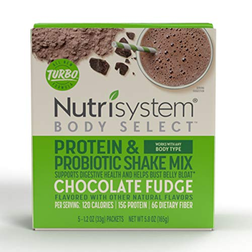 Nutrisystem® Body Select™ Chocolate Fudge Protein & Probiotic Shakes, 20ct, Delicious Shakes that Bust Belly Bloat* and Support Digestion