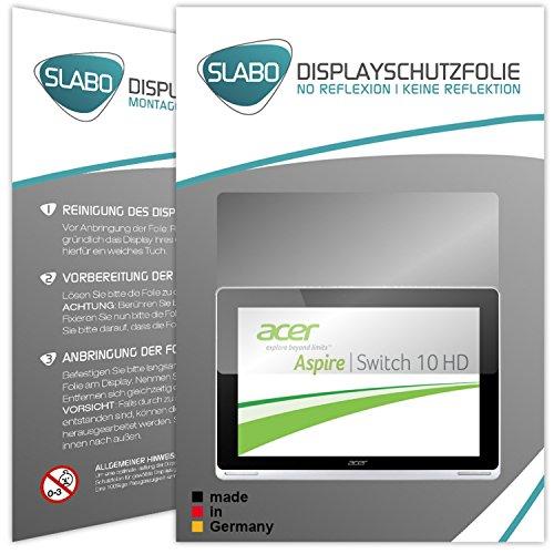 Slabo 2 x Displayschutzfolie für Acer Aspire Switch 10 SW5-012 Displayschutz Schutzfolie Folie No Reflexion | Keine Reflektion MATT
