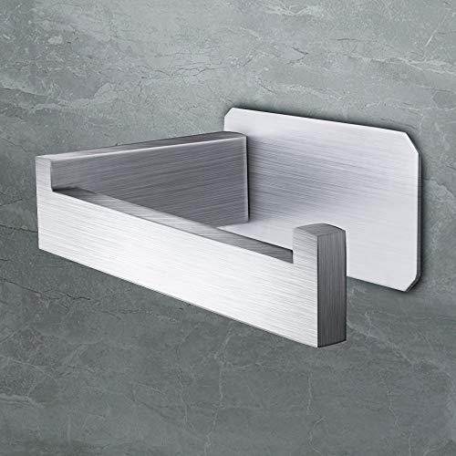 Veramz Toilettenpapierhalter Ohne Bohren aus Edelstahl Gebürstet 304, Klopapierrollenhalter Rostfrei - Matt