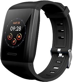 Relojes Inteligentes Deportivo Mujer Hombre, Impermeable IP68 Smartwatch Pulsera Inteligente Pulsómetro Monitor de Sueño Podómetro,Negro