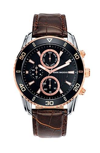 Mark Maddox HC6006-47 - Reloj de Cuarzo para Hombre, Correa de Poliuretano Color marrón