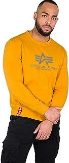 ALPHA INDUSTRIES Men's Basic Sweater Sweatshirt, Wheat, 37.13