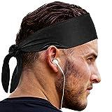 Head Tie Sports Headband: Sweatband for Men & Women & Kids Headbands. Best Cooling Ninja Head Band Bandana...