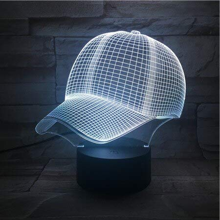 Cutomized 3D Lampe Baseball Cap ohne Logo Best Present Children Atmosphere Farbwechsel Led Night Light Lamp