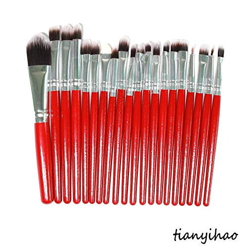 MPKHNM Direct makeup brush eye brush set wooden handle beauty tools red