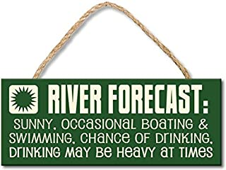My Word! River Forecast - 4x10 Hanging Wooden Sign