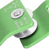 BOTEGRA Poulie d'alpinisme, Poulie Simple Poulie de Type U Poulie de Descente Poulie en Alliage d'aluminium et de magnésium pour la traversée d'escalade, Travail aérien,(Green)