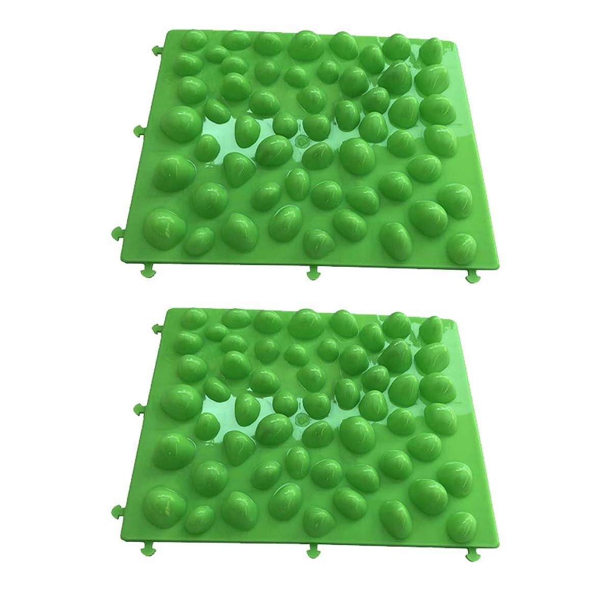 根拠注入劇的P Prettyia 足つぼ フットマット フットマッサージ 足のマッサージパッド 人工石 プラスチック 血行促進 2個入
