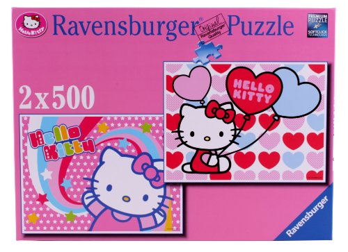 Ravensburger, Hello Kitty, 2 Puzzle da 500 pezzi