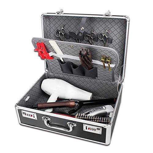 Hairdbag Boîte à Outils en Aluminium Portative De Coiffeur De Valise D'outils De Coiffeur, Boîte De Stockage De Cas De Mot De Passe D'organisateur