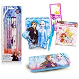 Disney Frozen Crafts Bundle Frozen School Supplies Set - 15 Pc Frozen Stationary Supplies with Pencils, Notebook, Palace Pets Stickers, and More!