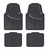 AmazonBasics - Set da 4 tappetini in gomma per auto, SUV, camion,...