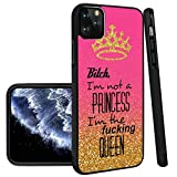 Queen iPhone 11 Pro Max Phone Case Black TPU Protective case Shockproof Non-Slip Soft Designed Queen case for iPhone 11 Pro Max