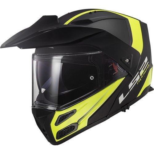 LS2 Motorradhelm METRO EVO RAPID Mat, Schwarz/Gelb, Größe XL