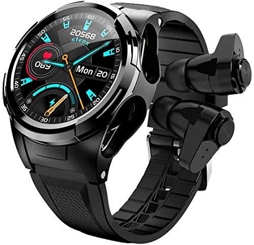 GANG Relojes Inteligentes con Audífonos, Relojes Inteligentes de Pantalla Táctil de un Solo Punto de 1.3 Pulgadas, Negocios de Aptitud, Relojes Deportivos Inteligentes-Oro Exquisito