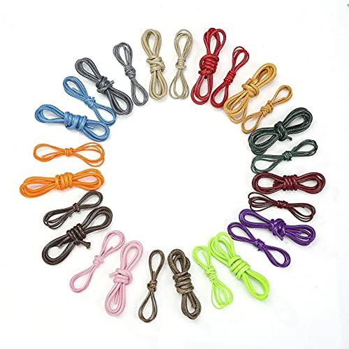 CORDÓN DE CERA, Cuerda para hacer joyas de 1,5 mm y 3 mm para manualidades, decoración, indumentaria, disfraces. Durable, funcional, fuerte.Neotrim uk. Black, 2 meters (1.5mm)