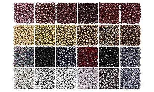 Kit de fabricación de pulsera Granos de semillas de vidrio Letras de letras para la fabricación de pulseras, cuentas de semillas de vidrio para kit de fabricación de joyas, gancho de oreja y cadena el
