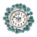 YONGJUN Mute - Reloj de pared moderno para sala de estar, dormitorio, hogar, creativo, tendencia creativa, arte ligero, arte de lujo, relojes de pared alta (color: 58 cm)