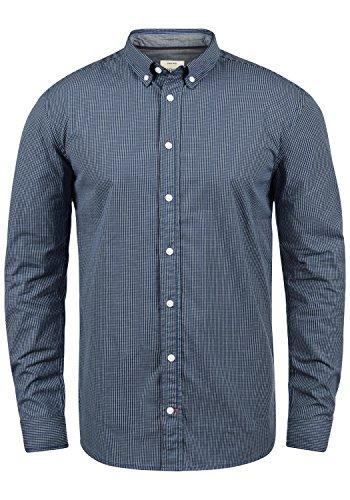 Redefined Rebel Macklaren Herren Freizeithemd Hemd Mit Button-Down-Kragen Aus 100% Baumwolle, Größe:M, Farbe:Navy