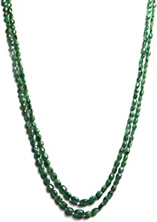 oval shaped emerald beads