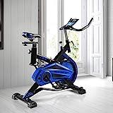ECO-DE Bicicleta Spinning Shark. Uso semiprofesional con pulsómetro, Pantalla LCD y...