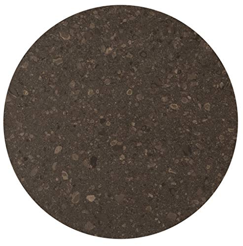 SLOVAK STONE Steintischplatte in Caesarstone Cocoa Fudge 4260 / rund 80 cm Bistrotische/Gartentisch/Gastronomie