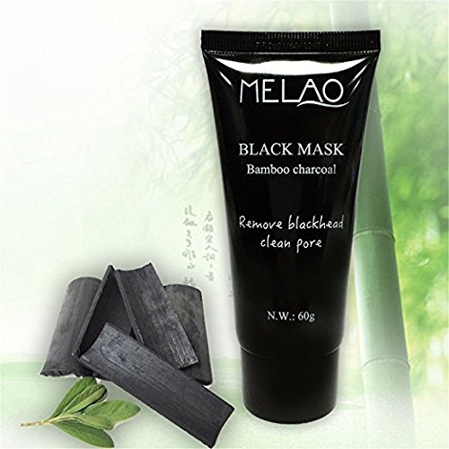 Melao Activated Charcoal Peel Off Mask, Blackhead Remover, Facial Masks, Purifying Peel-Off Mask, Black Mud Pore Removal Mask For Face, Nose, Acne Treatment Oil Control, Melao by Vaiolab (5 Packs)