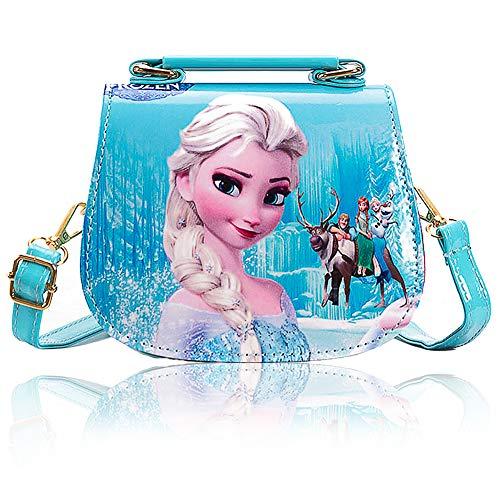 JPYH Bolso Bandolera, Frozen Believe-Bolso Muffin,Crossbody Monedero Monedero Bolso Bolso Cremallera Cierre para Niñas Adolescentes Mujeres(azul)