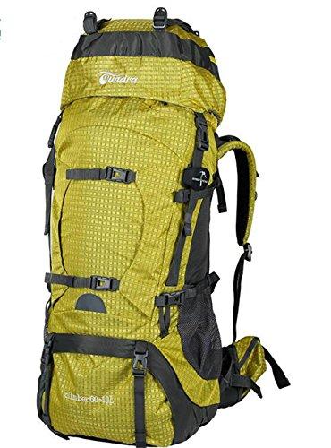 sac à dos randonnée Voyage sac en plein air sac à dos d'alpinisme grands hommes et les femmes la capacité 60L70L Sacs à dos de randonnée ( Couleur : Le jaune , taille : 60+10L )