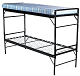 Blantex 2 WWII Army Style Bunkable Beds with 4' Foam Mats