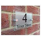 MISDD Personalizar Modernos DE LA Puerta NÚMERO/Placa de dirección, Vidrio acrílico Exterior Muestra de la casa (Size : 20×14cm)