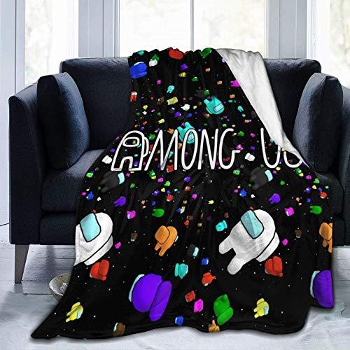 HGdggvd Among Us Fleece Blanket Super Suave y cálido Fuzzy Plush Ligero sofá Cama Mantas, Manta para niños, Adolescentes, Hombres, Mujeres