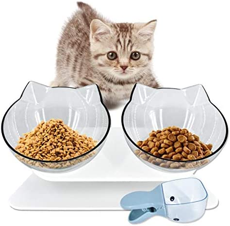 RIO Direct Opening large release sale Elevated Max 54% OFF Double Cat Fo Bowls Platform Tilted 15°