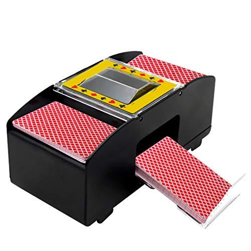 ZWH Barajador automático de cartas de póquer, barajador automático de cartas de póquer, funciona con pilas 2/4/6 barajas, para juegos de póquer en casa, fiesta, club, juegos de póquer, lavar 6 juegos