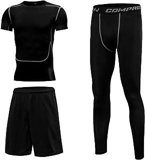 SMART.B Men's Gym Compression Suits (Shirt, Leggings, Shorts).