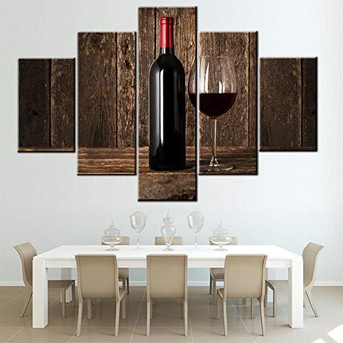 TUMOVO Pinturas de vino tinto HD Impresiones sobre lienzo