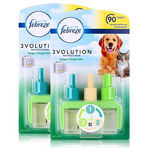 Febreze 3Volution Duftstecker Nachfüllflakon gegen Tiergerüche 20ml (2er Pack)
