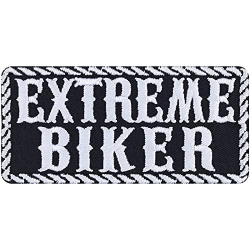 Parche de motorista Extreme para planchar, diseño de carreras, ideal como regalo para hombres/mujeres, para chaquetas, chalecos, vaqueros, maletas, 95 x 45 mm