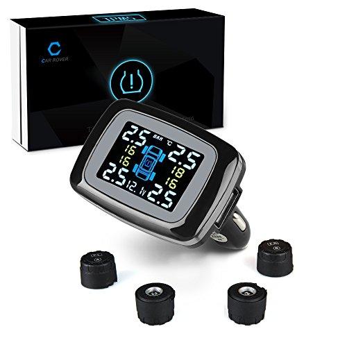 Car Rover Sensore Pressione Pneumatici, TPMS Sistema di sicurezza di allarme senza fili( Sensore...