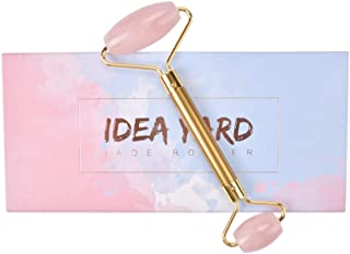 Jade Roller for Face, Noiseless, Jade Roller, Face Massager for Wrinkles, Reduces Puffiness, Relaxes Muscles, 100% Real Jade, Beautiful Gift for Women idrayard(rose quartz)