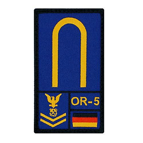 Café Viereck ® Maat Bundeswehr - Marine Rank Patch mit Dienstgrad - Gestickt mit Klett – 9,8 cm x 5,6 cm (Blau)