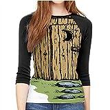 C COABALLA A Cartoon Outhouse,Fashion Crewneck T-Shirt for Women/Girls M