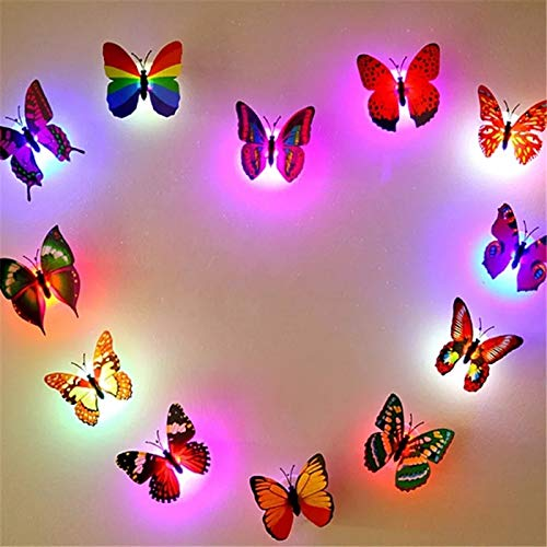 Pink Kites Color Changing Beautiful Butterfly Plastic LED Wall Night Lamp (Multicolor)