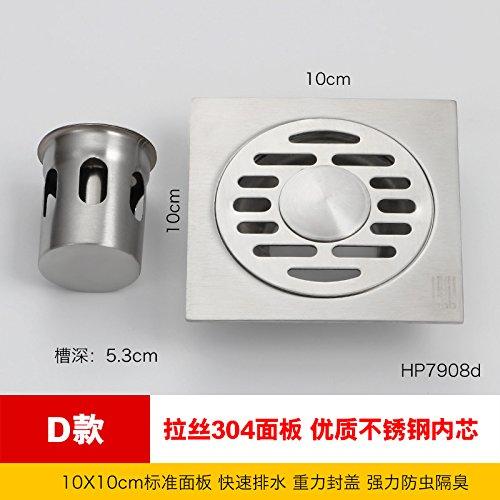 MDRW-Badkamer Accessoires RVS Vloerafvoer Badkamer Toilet Wasmachine Drie Manieren Anti Blokkeren Riool Vloerafvoer Cover