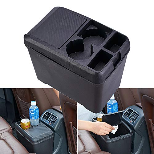 Car Trash Can Bin Waste Container Multi-Function Storage Box Car Cup Holder Car Organizer