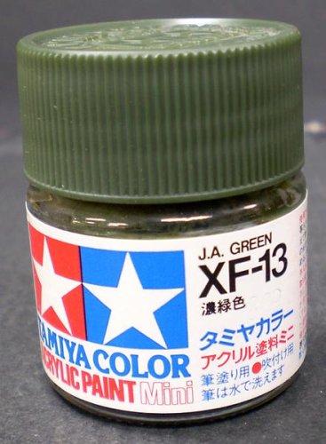 タミヤ・アクリルミニ XF-13 濃緑色